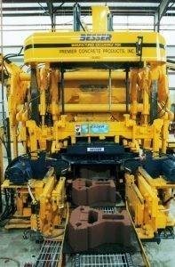 Besser's Dynapac® Concrete Block Machine